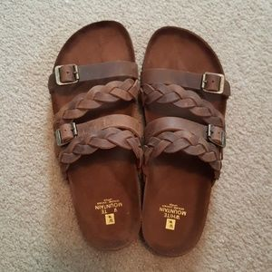 WHITE MOUNTAIN leather braided sandals NEW!